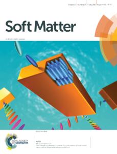 今村君 博士2年 の論文がsoft matter誌に掲載され 掲載号のinside